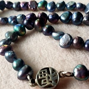 Tahitian cultured pearls with Sterling clasp